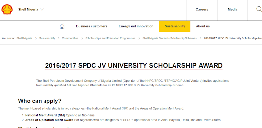 Apply For 2016/2017 Shell Undergraduate Scholarship For 200L Students