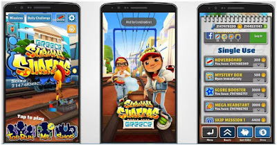 Subwey Surfer Cheat Unlimited Coin APK v1.64.1 Update