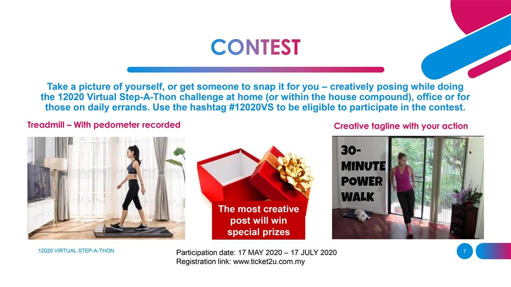 12020 Virtual Stepathon Challenge | Contest for creative post win special prizes