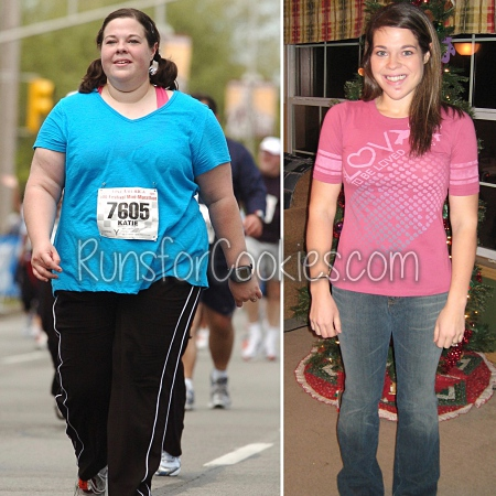 Katie's 125 pounds down weight loss comparison
