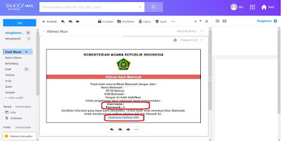 email aplikasi rapor digital