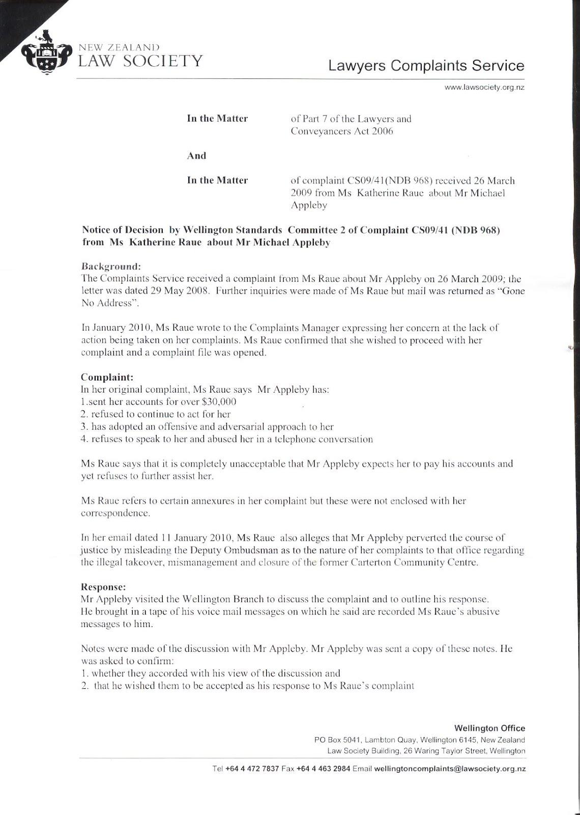 Transparency nz december 2010 lawyer michael applebys friend julian tyerman responds to law society complaint spiritdancerdesigns Image collections