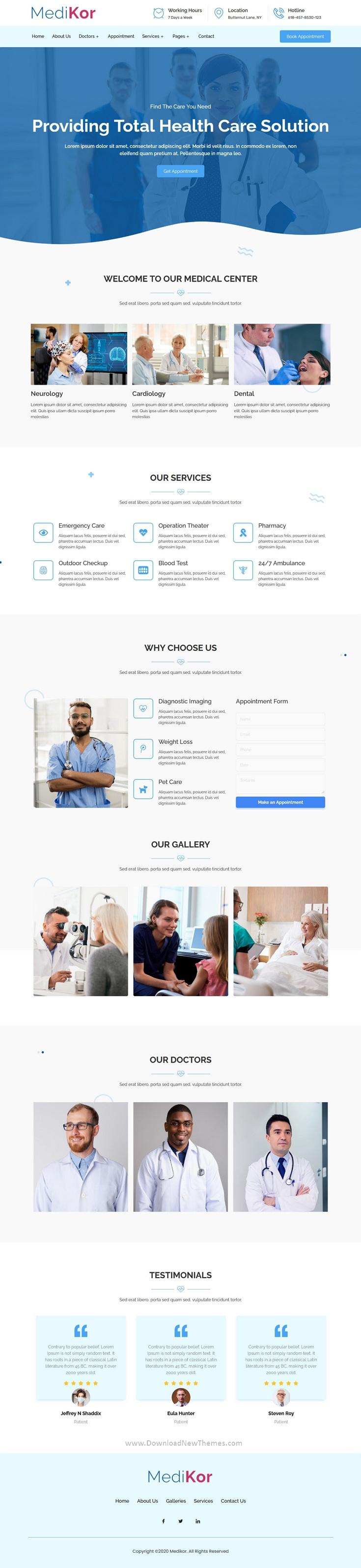 Medical Healthcare Elementor Template Kit