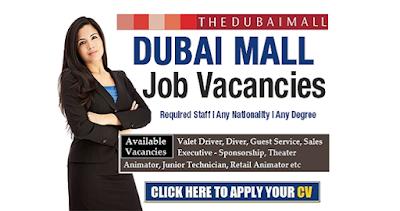 Jobs in Dubai at Dubai Mall