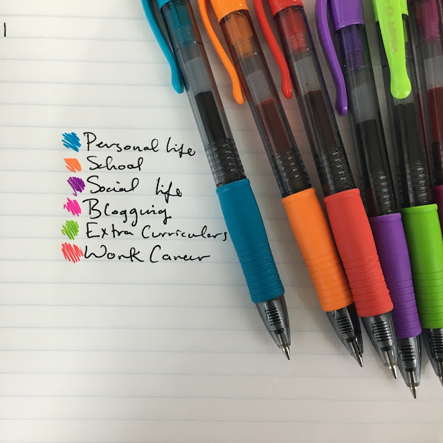 color coding, color-coding, G2 Pens, pilot pens, G2 Pilot Pens, back to school, planners, erin condren, organization, college organization, getting organized, planning, how to, how to color code