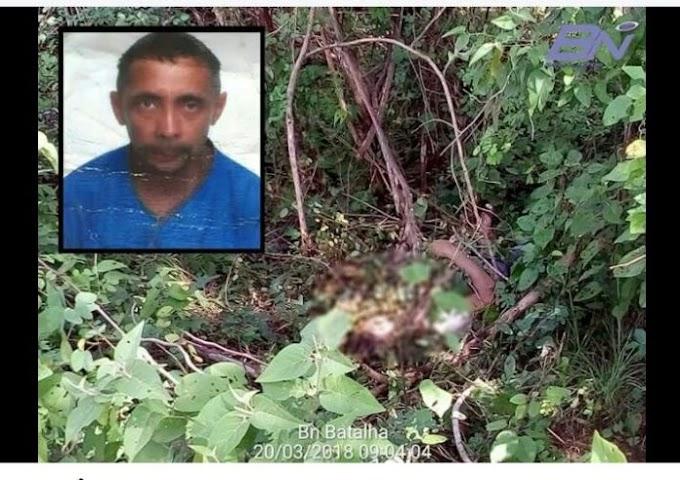 Em Batalha, corpo de homem que estava desaparecido é encontrado na zona rural do município.