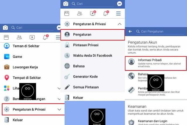 Cara Menggati Email Facebook Melalui Aplikasi Facebook #1
