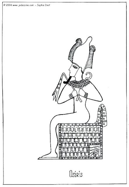 colorear dibujo de Osiris