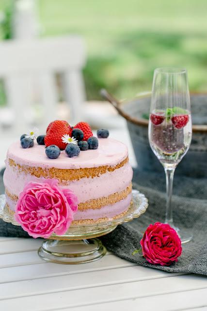 Beerentorte, Hochzeitstorte, Naked Cake