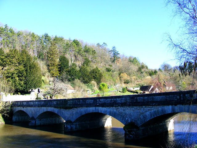 Bridge at Chaumussay.  Indre et Loire, France. Photographed by Susan Walter. Tour the Loire Valley with a classic car and a private guide.