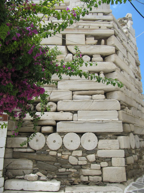 Frankish castle on Paros built with Classical & Archaic-Era Marbles