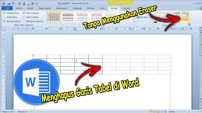 cara menghapus garis tabel di word