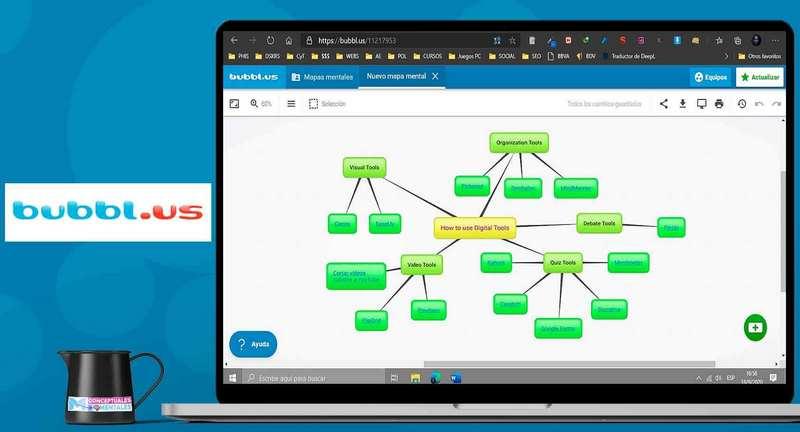 Bubbl.us para hacer mapas mentales online gratis
