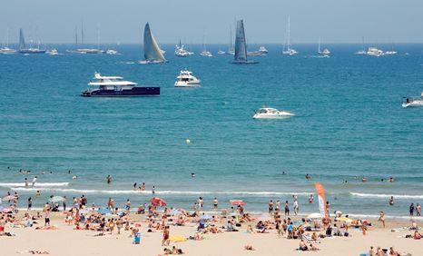 World beautifull places valencia spain beaches pictures for Spiaggia malvarrosa valencia