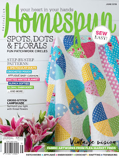 Homespun magazine cover featuring spots and florals quilt