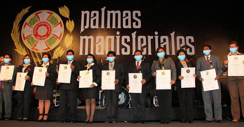 MINEDU: Este viernes serán condecorados doce educadores con las Palmas Magisteriales