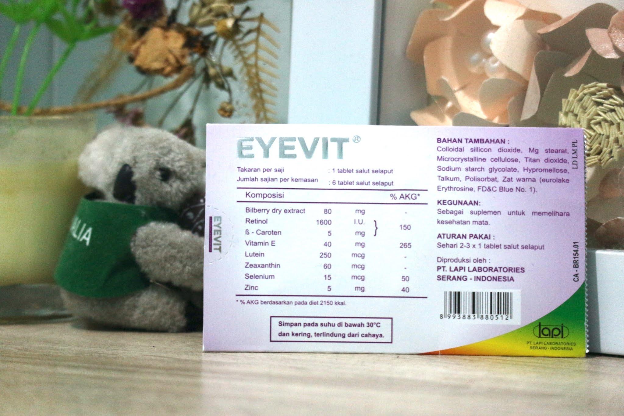 Vitamin mata dari Eyevit penting untuk menjaga kerja mata tetap optimal dan sehat