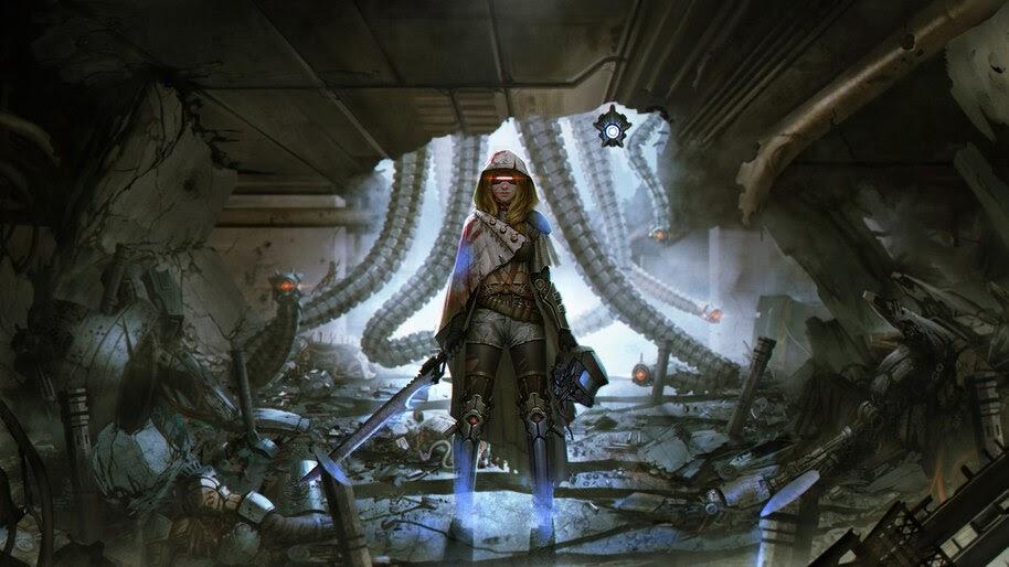 Sci-Fi, Girl, Warrior, 4K, #4.1067