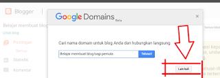 penawaran untuk membeli domain TLD di blogger.com