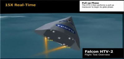 Falcon Hypersonic Technology Vehicle 2 in Flight