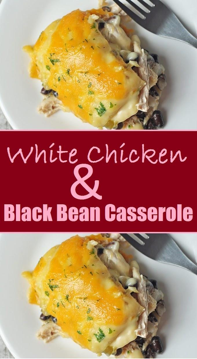 White Chicken & Black Bean Casserole