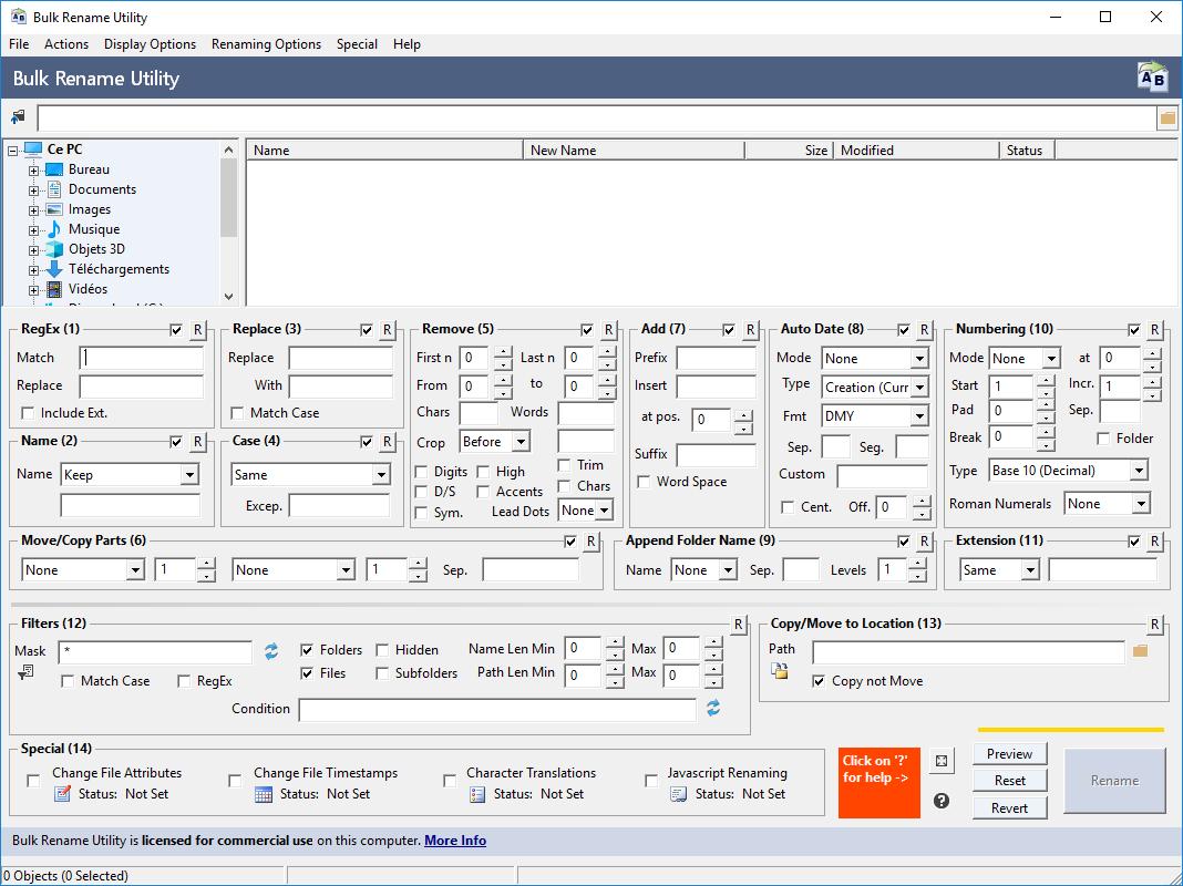 تنزيل برنامج Bulk Rename Utility 3.4.0 لإعادة تسمية ملفات ومجلدات متعددة في وقت واحد