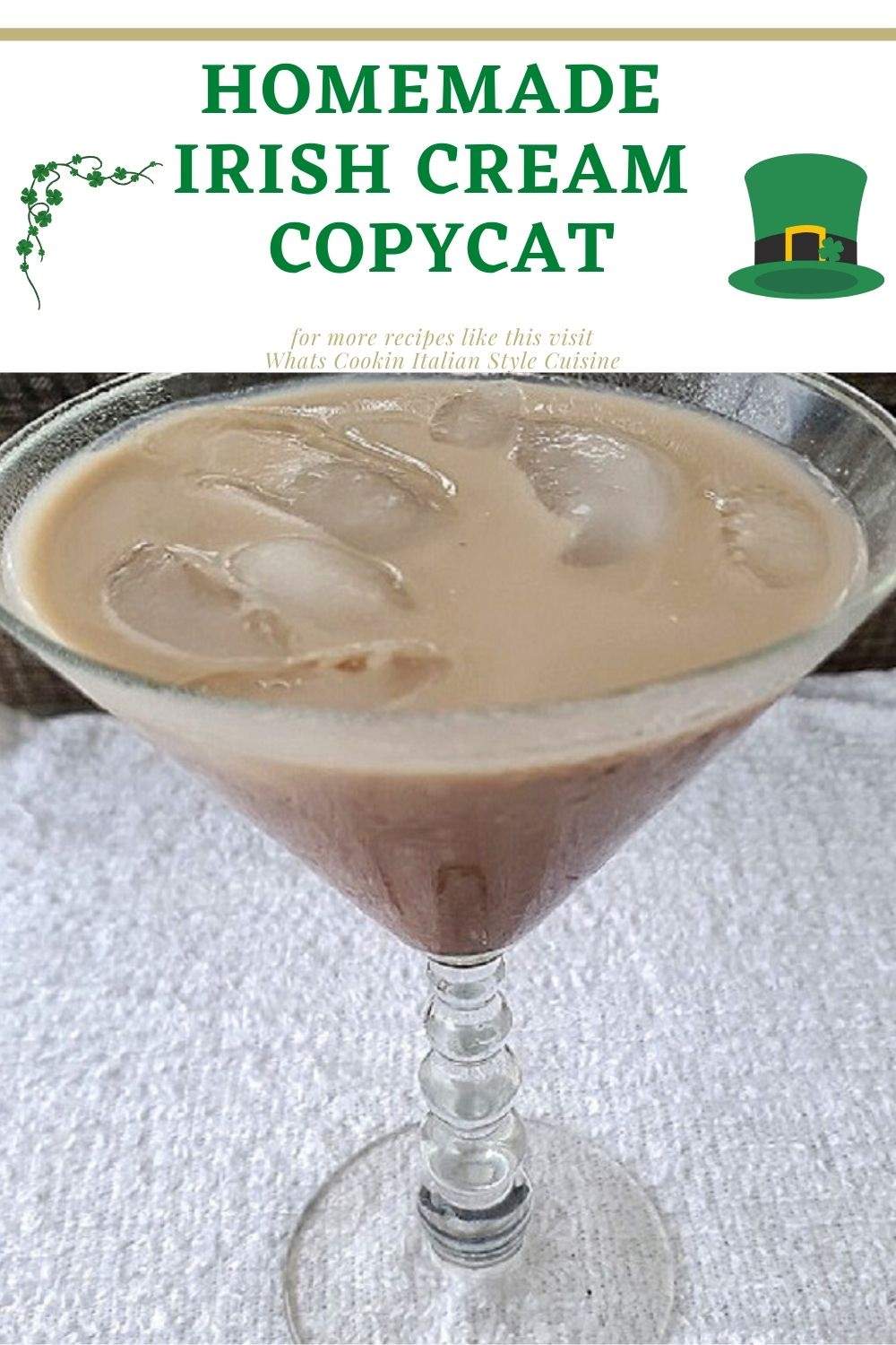 this is a pin for later on how to make homemade irish cream