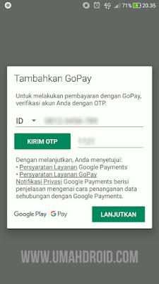 Beli Game di Google Play Store Pakai GoPay