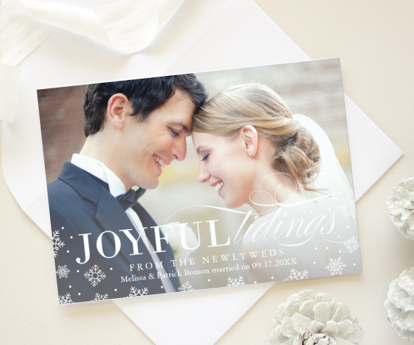 just married christmas photo cards