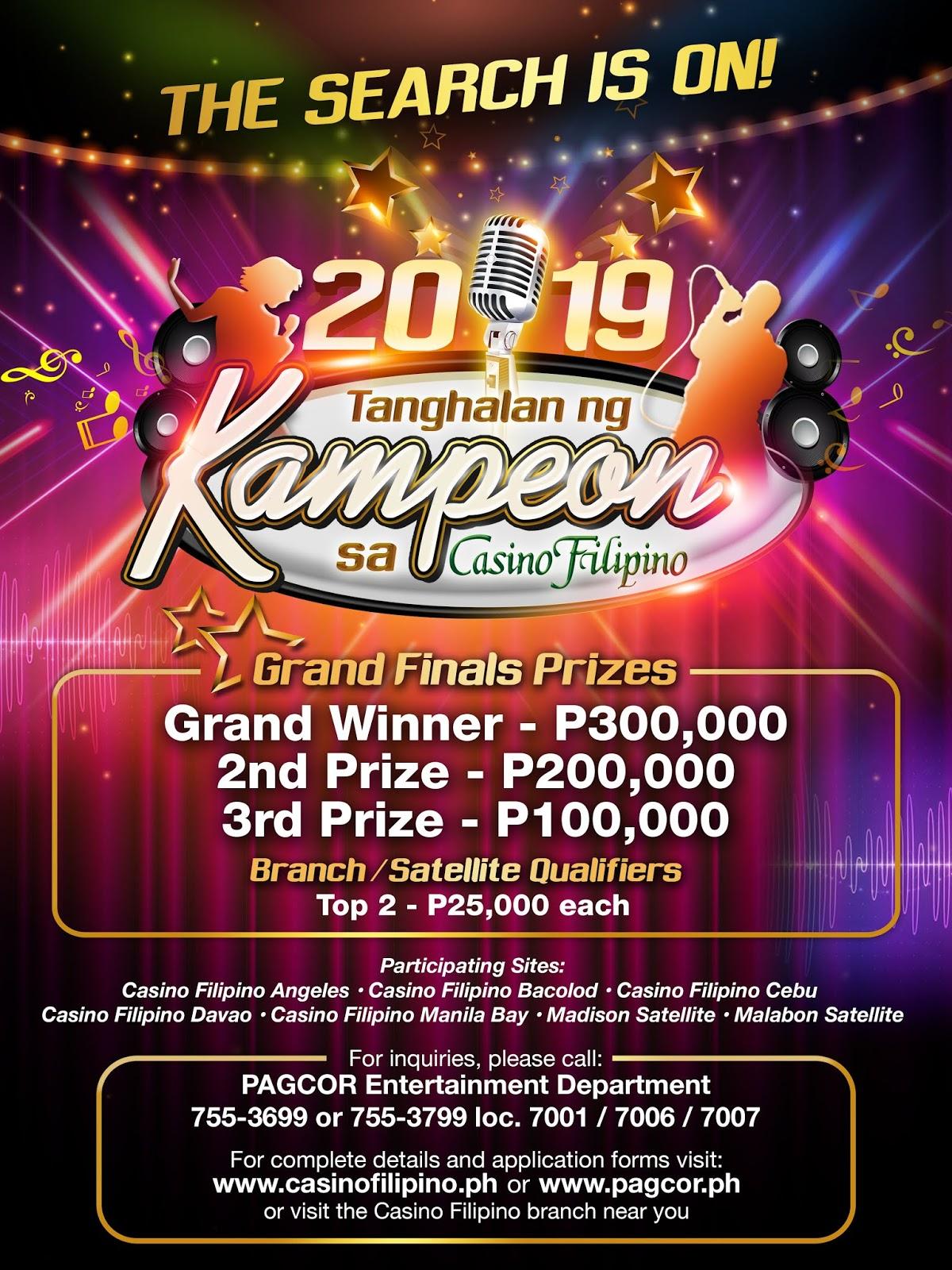 Casino Filipino to hold 'Tanghalan ng Kampeon' nationwide singing