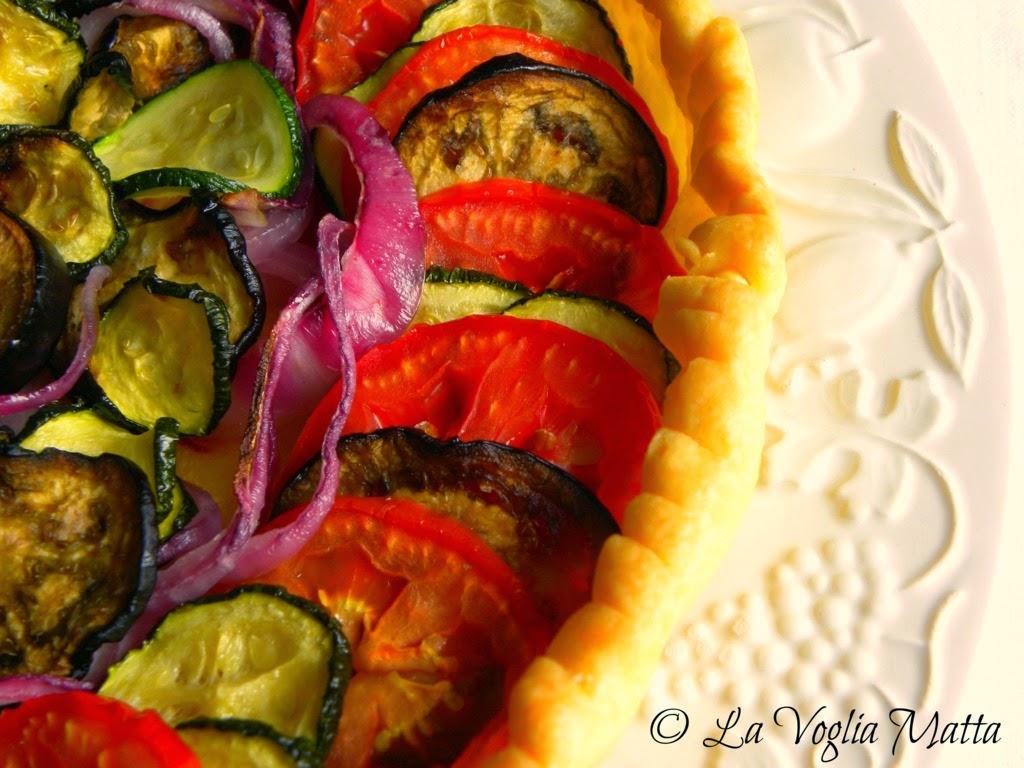 sfoglia di verdure e mozzarella