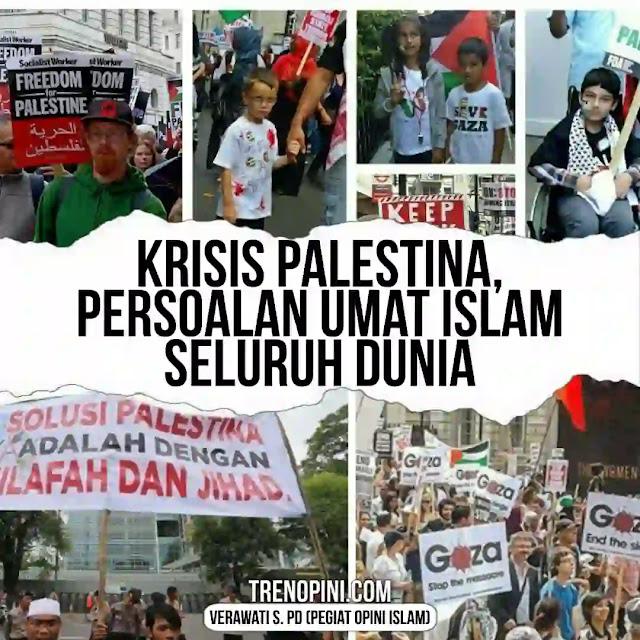 masalah Palestina adalah masalah kaum muslimin di seluruh dunia. Tidak bisa hanya diselesaikan oleh kelompok-kelompok tertentu atau orang Palestina sendiri. Oleh karena itu, di sinilah dibutuhkan kesatuan umat Islam dengan ikatan aqidah islamiyyah di bawah kepemimpinan Islam. Pemimpin kaum muslimin akan mengomandoi kekuatan umat Islam di seluruh dunia untuk membebaskan Palestina. Sebagaimana dicontohkan oleh Sultan Abdul Hamid II. Gagah berani menghadapi Yahudi laknatullah.
