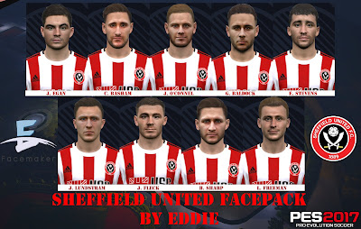 PES 2017 Facepack Sheffield United by Eddie Facemaker