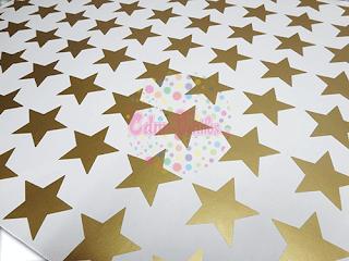 vinilos decorativos estrellas doradas