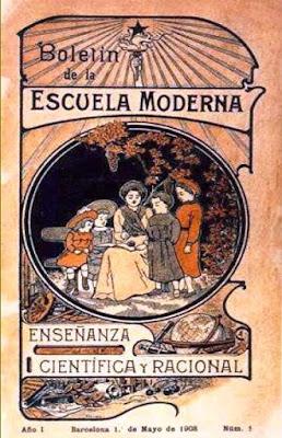 Portada del Boletín de la Escuela Moderna