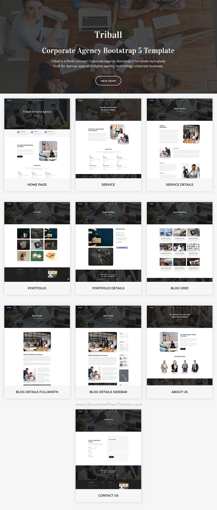 Corporate Agency Bootstrap 5 Template
