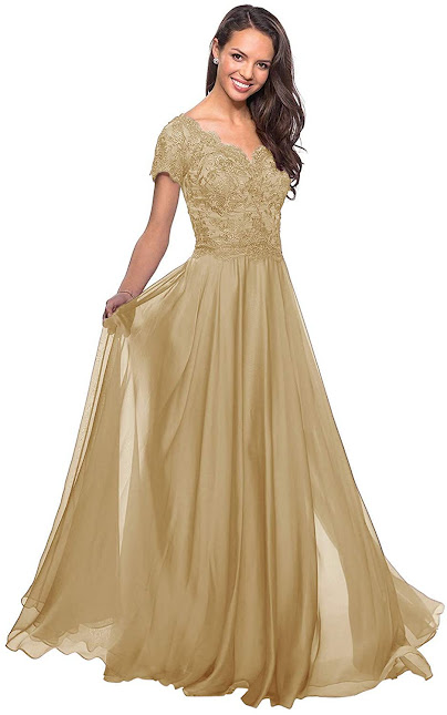 Beautiful Gold Mother of The Bride Dresses