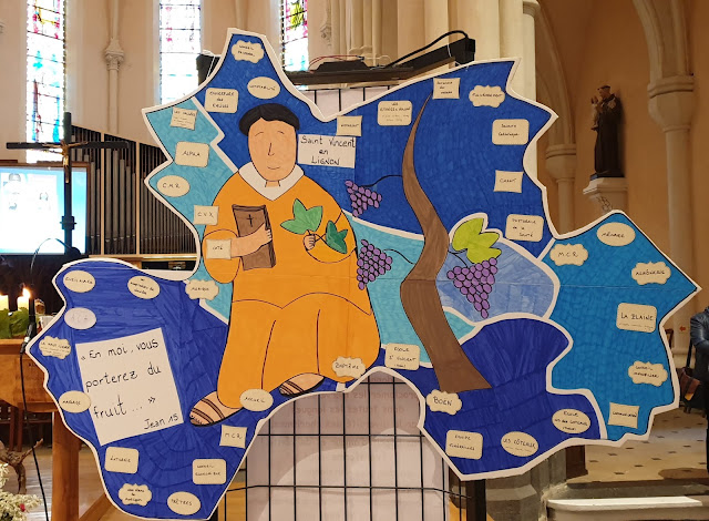 poster de la paroisse St Vincent en Lignon