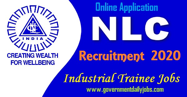 NLC Industrial Trainee Recruitment 2020