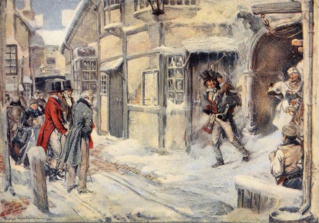 Ο Σκρουτζ, ο Tiny Tim και η Χριστουγεννιάτικη Ιστορία του Ντίκενς σε κλασική εικονογράφηση