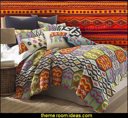 tribal background wallpaper mural Malawi bedding exotic theme bedrooms