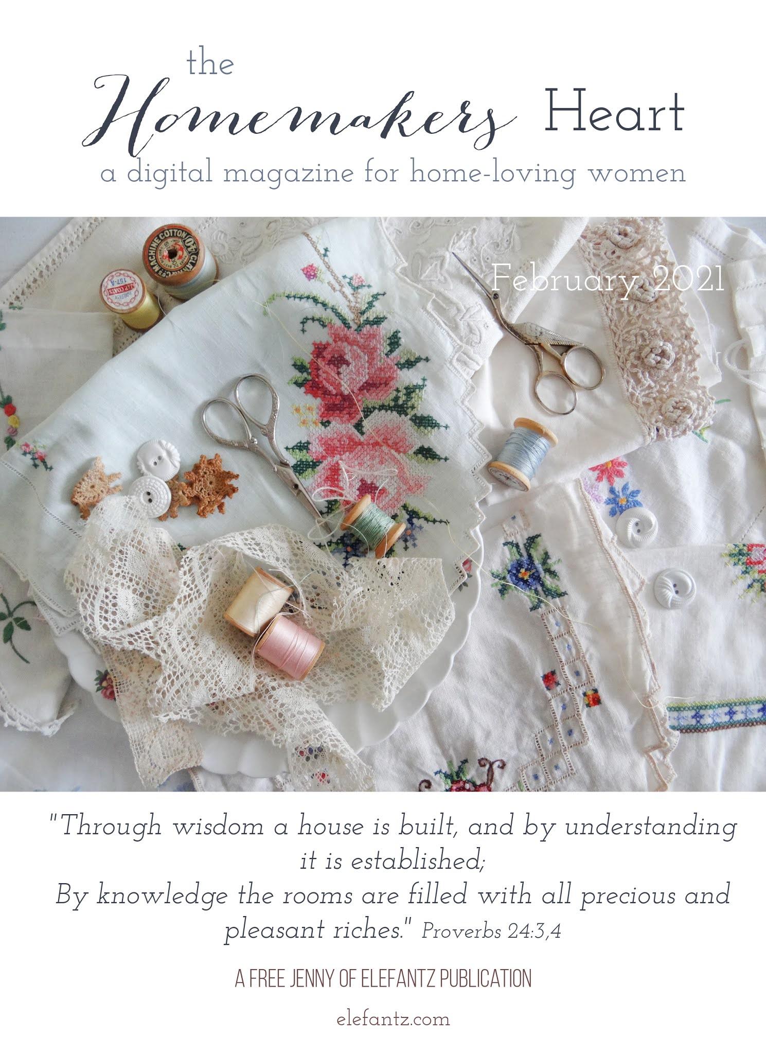 Jenny of ELEFANTZ: The Homemakers Heart magazine issue 1...