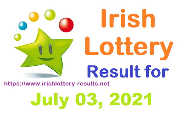 Irish Lottery Results for Saturday, July 03, 2021