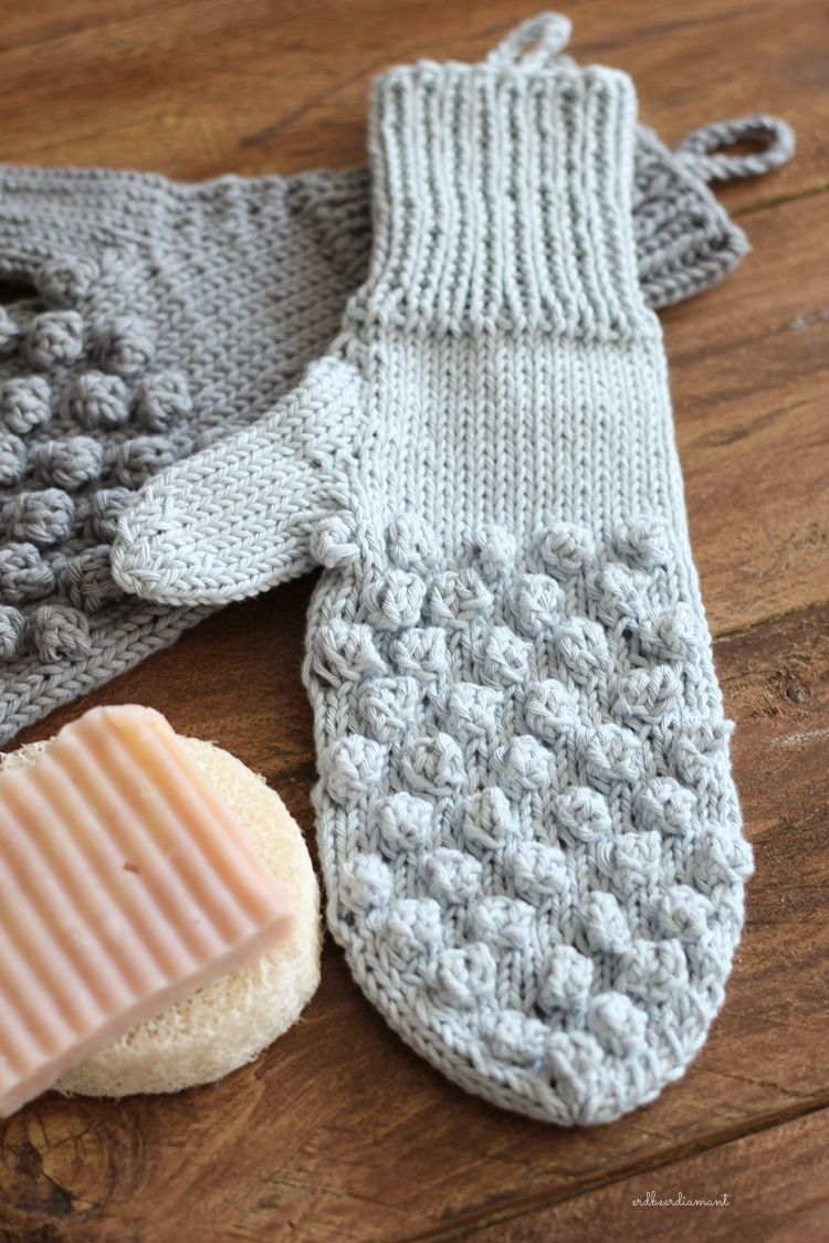 DIY | Duschhandschuh | Knitted gifts
