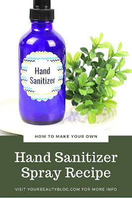 How to make your own hand sanitizer spray DIY with alcohol, vodka, rubbing alcohol, or Everclear. DIY how to make handmade Purell recipe with alcohol, aloe vera, and essential oil. This recipe has over 60% alcohol, so it can kill germs in 60 seconds. It's scented with natural essential oils.  How do you make homemade hand sanitizer spray?  It's easy and takes about 10 minutes! #sanitizer #spray