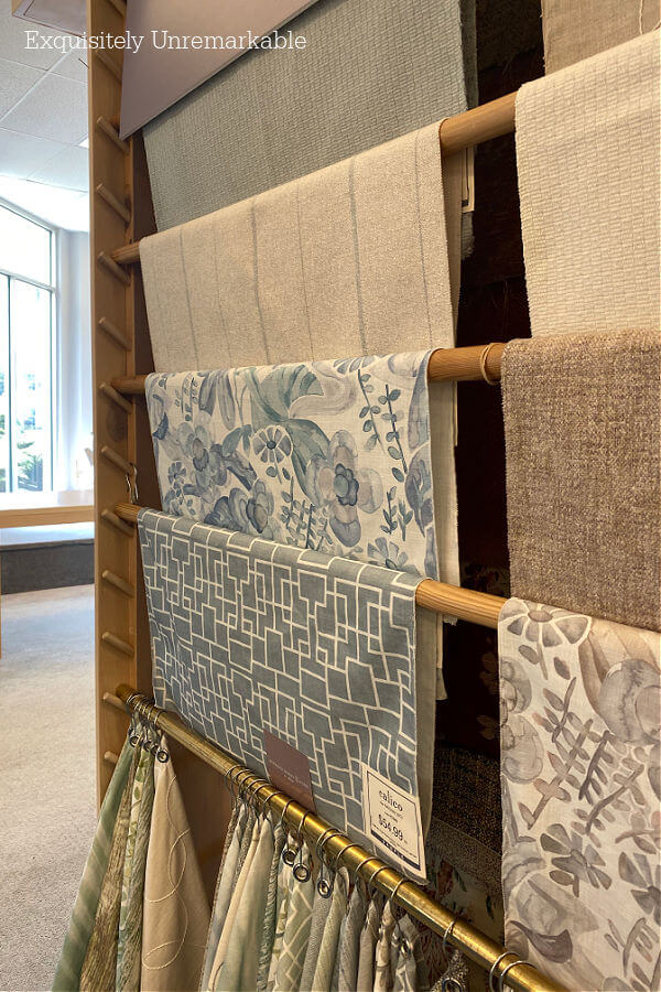 Upholstery Fabric Choices on rods