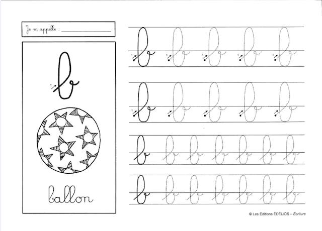 apprendre à écrire les lettres de l'alphabet en script, majuscules et minuscules