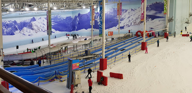 Chill Factore layout with beginner slopes luge snow play ski lift and ski slope