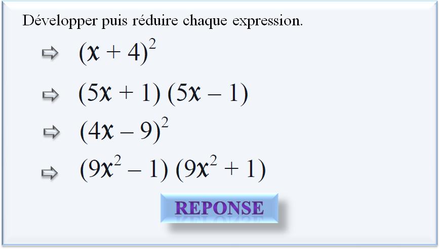 QCM-CONCOURS-GRATUITS: Développement, factorisation et ...