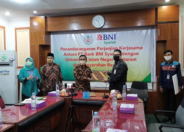 BNI Syariah Teken MoU Dengan UIN Mataram Secara Virtual Account e-Collection